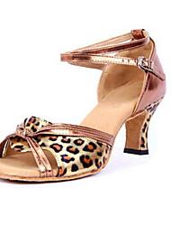 Zapatos de baile (Leopardo) - Danza latina - No Personalizable - Tacón grueso