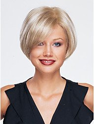 High Quality Capless Short Wavy Mono Top Human Hair Wigs 12 Colors to Choose