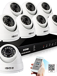 ZOSI® 8 Channel H.264 HDMI D1 DVR 8 pcs 800TVL Waterproof Day Night CCTV Camera Surveillance Security System