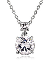 Necklace Pendant Necklaces Jewelry Wedding / Party / Daily / Casual Crystal / Alloy / Cubic Zirconia Silver 1pc Gift