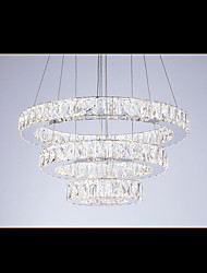 LED Pendant Light Modern Lighting Cool White Three Rings D204060 Transparent K9 Large Crystal Hotel Ceiling Lights