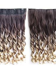 ombre hair extensions kleurrijke haar clip in hair extensions