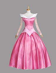 Cosplay Costumes Princess / Fairytale Movie Cosplay Pink / Blue Patchwork Dress Halloween / Christmas / New Year Female Polyester