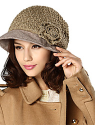 Kenmont Lady Cap Winter Beret Women Fashion Octagonal Cap Knitted Hat Top Hat 1376