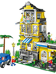 blocs banbao 8368 puzzle de jouets 3 méga blocs villa du modèle 1 Full House petites particules