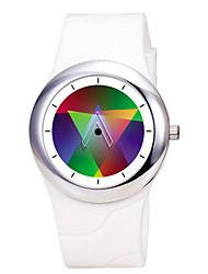 criativa couro quartzo silicone à prova d'água conceito relógio dos homens do arco-íris time2u watch92-29046-30001 / 3