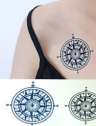 Sailor Compass Tattoo Stickers Temporary Tattoos(1 pc)