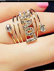 Statement Rings Cubic Zirconia Simulated Diamond Alloy Star Fashion Jewelry Party 1pc