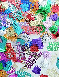 feliz confeti fiesta de cumpleaños para la decoración de la mesa (20 g / pack)