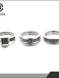 New Style Plating Platinum Zircon Ring