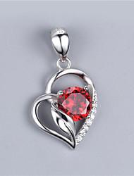 gl 925 argento con aaa rosso le pietre della CZ pendente / con rodiato colore