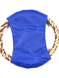 Dog Toy Pet Toys Flying Disc Rope Textile Random Color