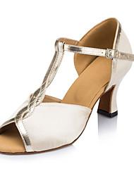 Sapatos de Dança ( Marfim ) - Mulheres - Não Personalizável - Latim