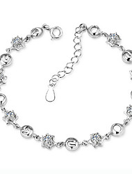 Women's 925 Silver plated jewelry bracelet high quality type(single)