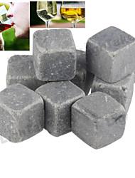 9 pc / lotto pietre del whisky cubi di roccia di ghiaccio bevanda pietra ollare congelatore