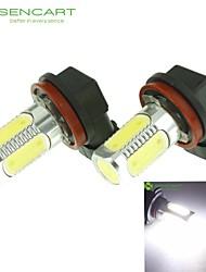 H11 PGJY192 10W 900Lm 5 x COB LED Cold White Light Polarity Free Car Foglight / Headlamp / Tail Light (12-24V)