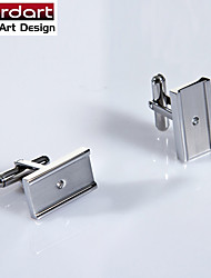316L Stainless Steel Cuff Link with CZ Stone Set for Men
