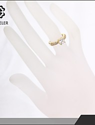 Sjeweler Girls Beautiful Promise Gold Plate Zircon Ring