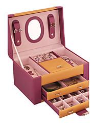 lavie®fashion Bannfarbe lila Soft-Grain-Leder Schmuckschatulle, Schmucksachen und bequeme Lagerung