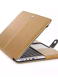 """Case for MacBook 12"""" with Retina display Business Solid Color Genuine Leather Material High Quality Solid Color Luxury Leather Full Body Case"""