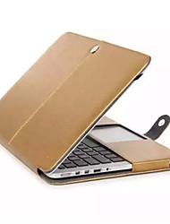 """высокое качество сплошного цвета случай роскошные кожаные полное тело для MacBook 12 """"сетчатка (ассорти цветов)"""