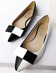 женская обувь острым носом случайные квартиры цвет, черный / красный / желтый