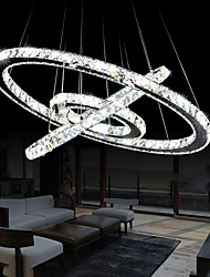LED Crystal Pendant Chandelier Lighting Transparent Crystal Round 3 Rings Cool White Ceiling Lamps Fixtures D405060CM