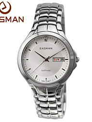 EASman Watch Men Brand 2015 Business Multifunction Watches White Steel New Style Top Classic Wristwatches Men Watch