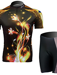 A Black Short Sleeved Jersey Suit Streamline Light, Breathable Quick Dry Women's Bicycle Service