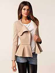 Women's Casual Medium Long Sleeve Regular Jackets (Polyester)