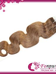 "300g/lots 18""-24"" Brazilian Human Hair Extensions #10 Medium Golden Brown Body Wave Human Hair Weave"
