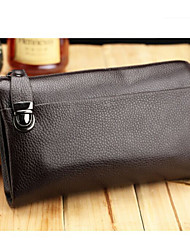 Men Other Leather Type Casual Evening Bag Brown / Black