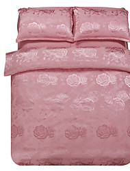Mingjie Jacquard Jade Flowers Bedding Sets 4PCS for Twin Full QueenSize from China Contian 1 Duvet Cover 1 Flatsheet 2 Pillowcases