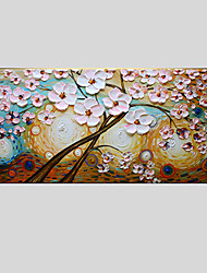 Floral/Botanical Oil Painting Hand-Painted Canvas Wall Art abstract tree One Panel Ready to Hang