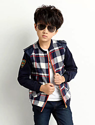 Boy's Summer/Spring/Fall Micro-elastic Medium Long Sleeve Jackets & Coats