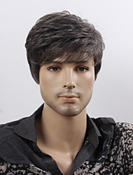 Europe And The United States New Men Natural Black Wig