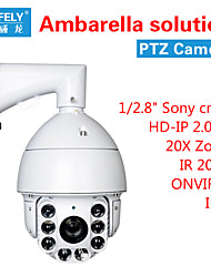 "hd-ip solution ir PTZ caméra ambarella (1 / 2,8 "") onvif2.2 2.0MP zoom 20x de ir200m"
