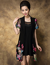 Women's Casual Short Sleeve Long Blouse (Chiffon) (Blouse & Dresses)