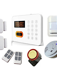 Wireless Security Burglar Alarm System With Fire Smoke Detector For Home