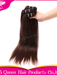 Ali Queen hair products 7A  Brazilian Virgin Hair Straight 4# Human Remy Hair 3pcs/Lot Free Shipping