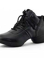 Niet Aanpasbare - Voor dames - Dance Schoenen ( Zwart/Bruin ) - met Lage Hak - en Jazz