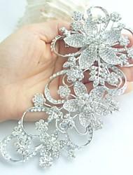 Wedding Accessories Silver-tone Clear Rhinestone Crystal Bridal Brooch Wedding Deco Flower Wedding Brooch Bridal Bouquet