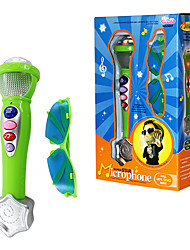 Electronic Microphone with Music Loudspeaker light and Glasses for Children