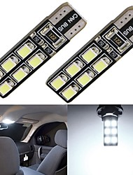 2 x Car T10 LED 12-2835SMD CANBUS W5W 194 168 Door Map Bulbs