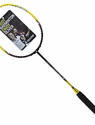 Men/Unisex/Women/Kids Badminton Rackets Low Windage/High Elasticity/Durable Yellow 1 Piece Carbon Fiber
