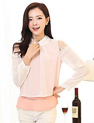 Women's Pink/Yellow Blouse Long Sleeve
