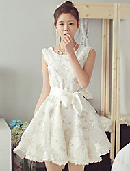 Women's The New Ladies Temperament Lace Princess Dress