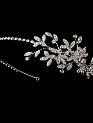 Bridal Crown Silver Tiara Queen Flower Leaf Butterfly Crystal/Diamond Pearls Flower Hairclips Headpiece Wedding/Party
