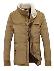 nova moda colar dos homens inglaterra com casaco grosso