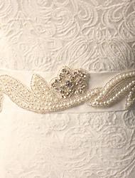 Faixa Tule Faixas para Mulheres Casamento Pedraria/Imitação de Pérola